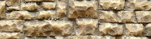 石垣 荒積み 軟質素材 (石中) 33 x 8.5cm :チューチ 塗装済みキット ノンスケール 8252
