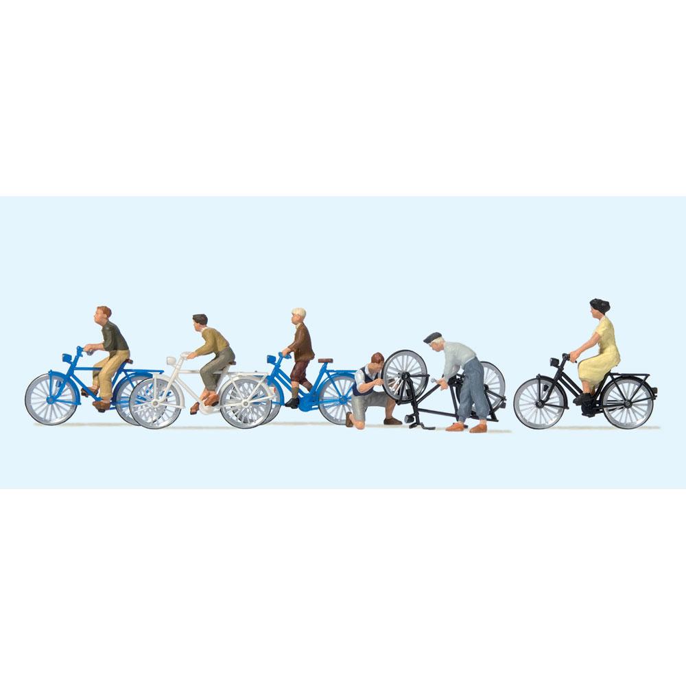 若者たちと自転車 :プライザー 塗装済完成品 HO(1/87) 10716