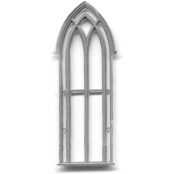 洋風窓 窓枠 ゴシック教会 :グラントライン 未塗装キット(部品) HO(1/87) 5126