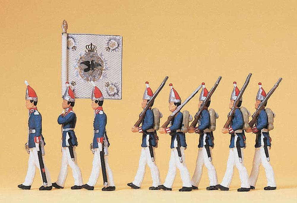 1894年の第一近衛歩兵連隊(グレナディアガーズ)旗手付き :プライザー 塗装済完成品 HO(1/87) 12188