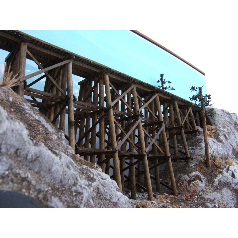 ティンバートレッスル(木造橋) 16.5mmゲージ :クレインヒルディスプレー 塗装済完成品 HO(1/87)