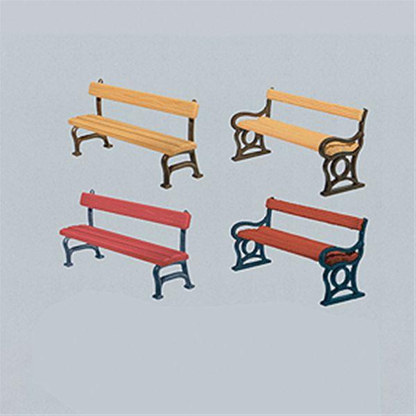 公園のベンチ(12脚) :ファーラー 未塗装キット HO(1/87) 180443