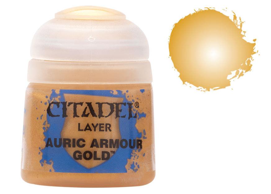 シタデル・レイヤー Auric Armour Gold(オーリック・アーマー・ゴールド) :ゲームズワークショップ つや消し塗料 22-62