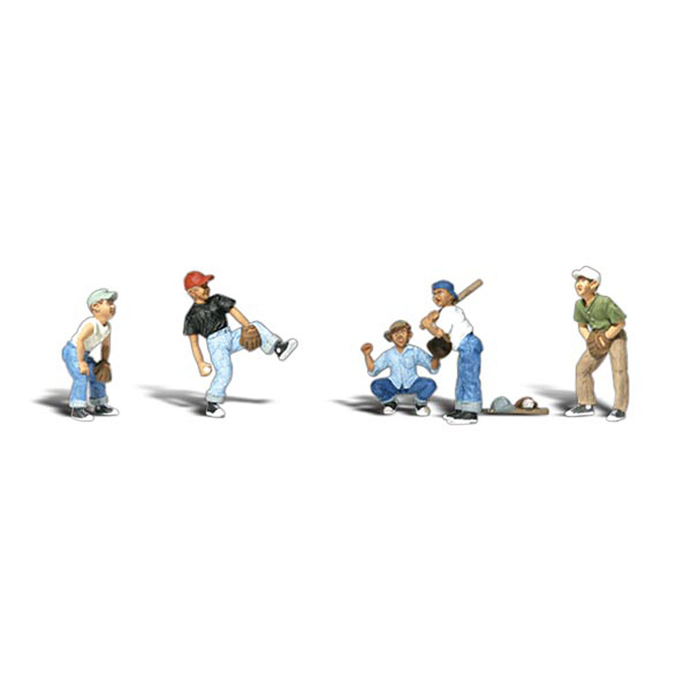 草野球で遊ぶ子供たち[その1] :ウッドランド 塗装済完成品 HO(1/87) 1869
