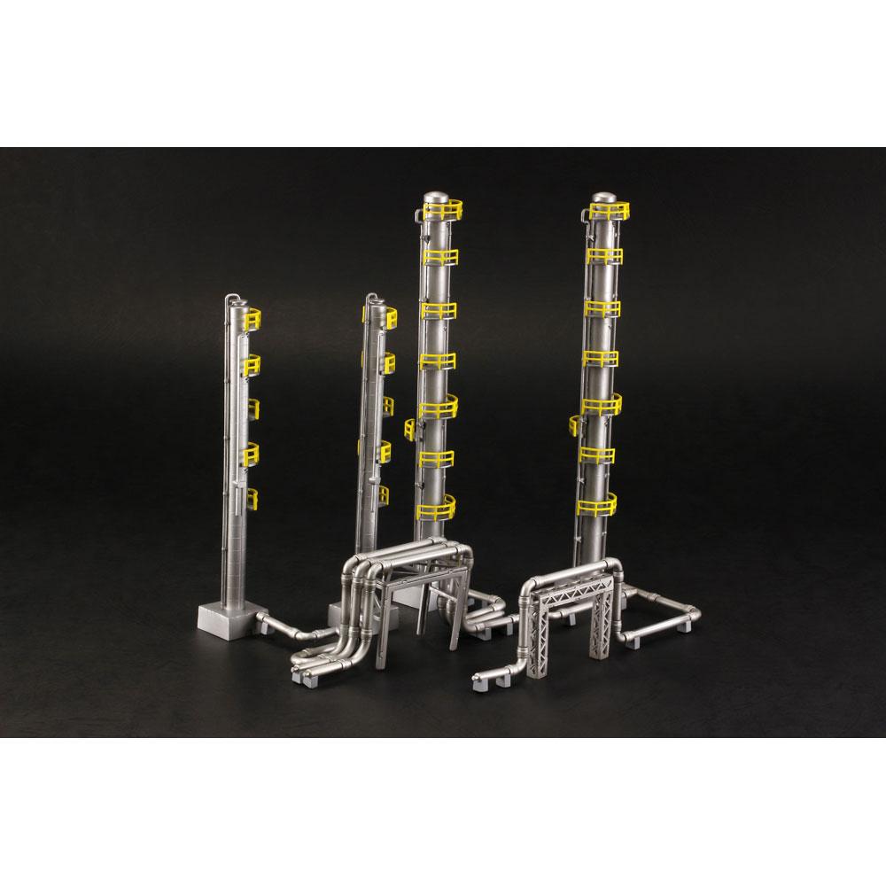 工業地帯B(蒸留塔) :PLUM 未塗装キット ノンスケール PP080