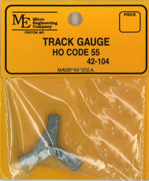 トラック・ゲージ 16.5mm HO コード55番用:マイクロエンジニアリング 鉄道 線路 42-104
