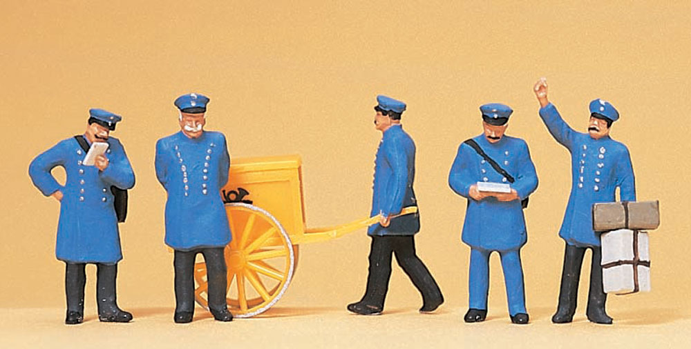 20世紀初頭の郵便職員 :プライザー 塗装済完成品 HO(1/87) 12198