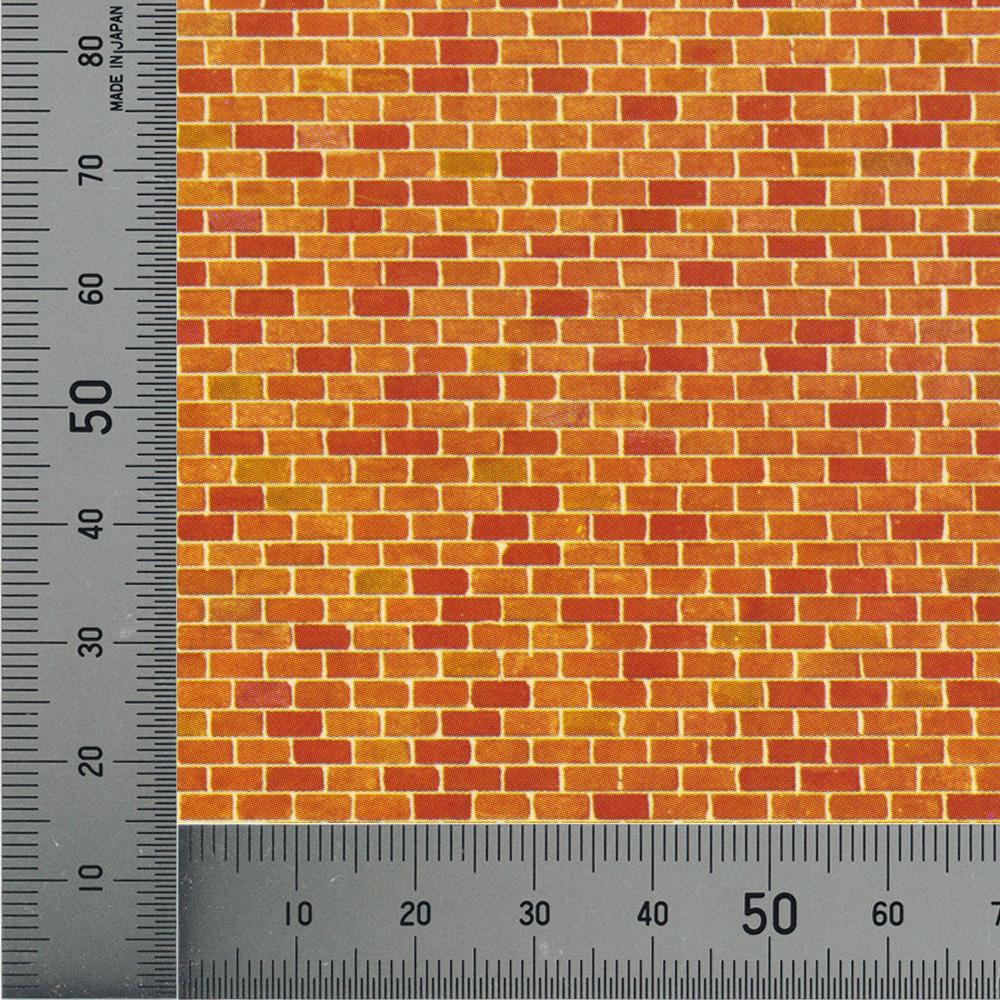赤レンガシート :ファーラー 素材 HO(1/87) 170608