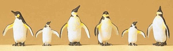 ペンギン 6羽 :プライザー 塗装済完成品 HO(1/87) 20398