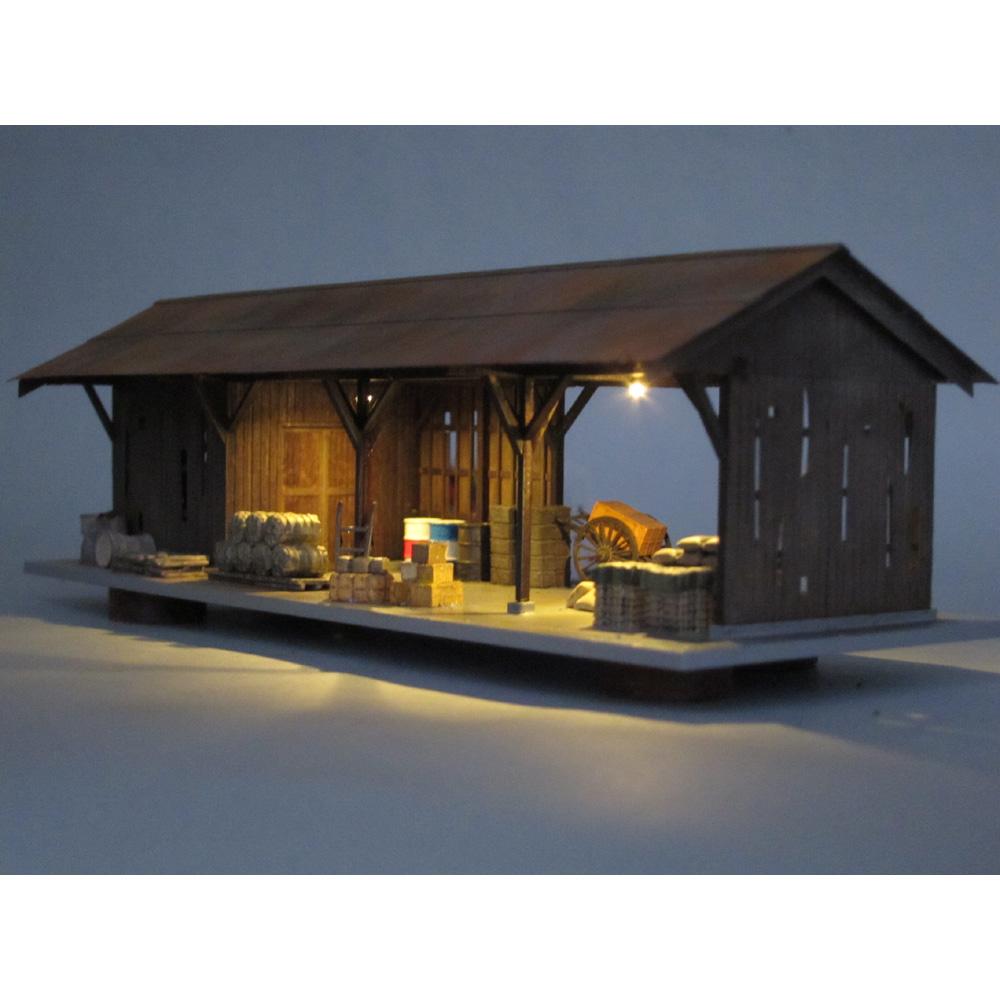 古びた貨物上家 :匠ジオラマ工芸舎 塗装済完成品 1/80