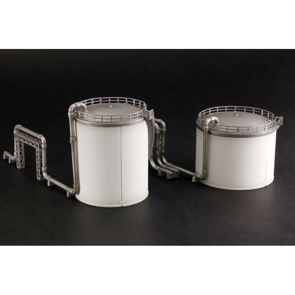 工業地帯A(貯蔵タンク) :PLUM 未塗装キット ノンスケール PP079