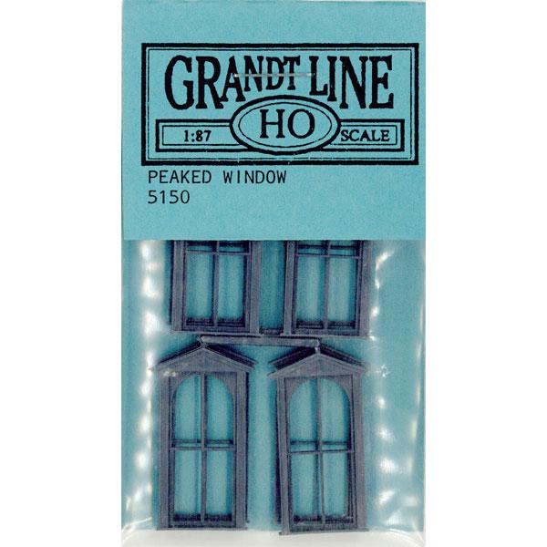洋風窓 窓枠 ハーフラウンド:グラントライン 未塗装キット(部品) HO(1/87) 5150