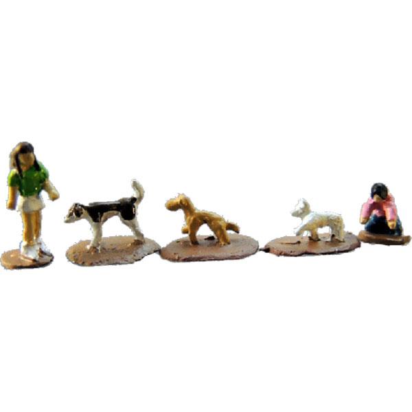 犬セットB<散歩> :アイコム 塗装済完成品 ノンスケール MLA-5008