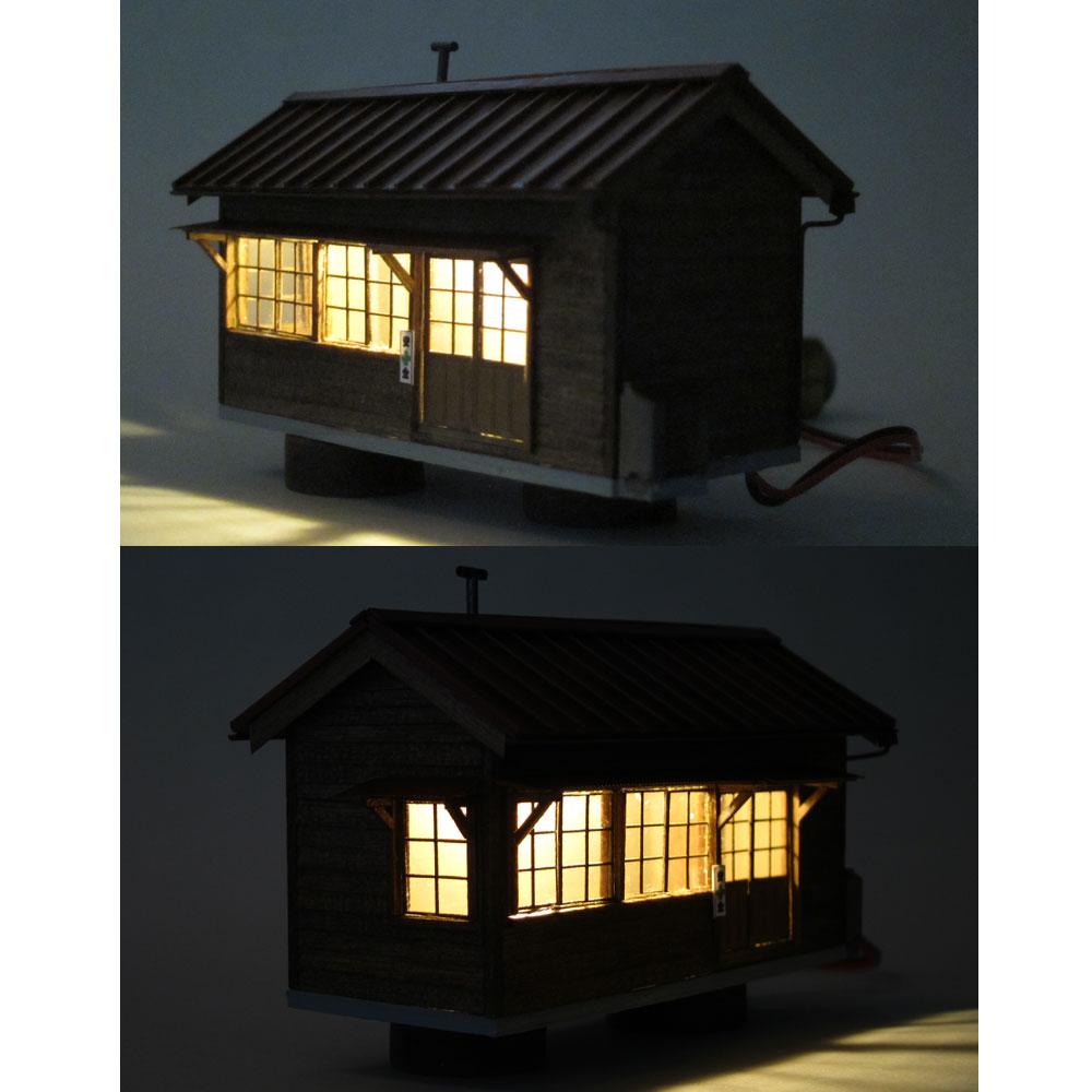 作業員詰所(トタン屋根) :匠ジオラマ工芸舎 塗装済完成品 HO(1/80) 1006