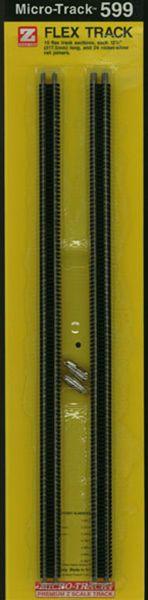 Zゲージ用 フレキシブルレール (317.5mm 10本) :マイクロトレインズ 素材 599