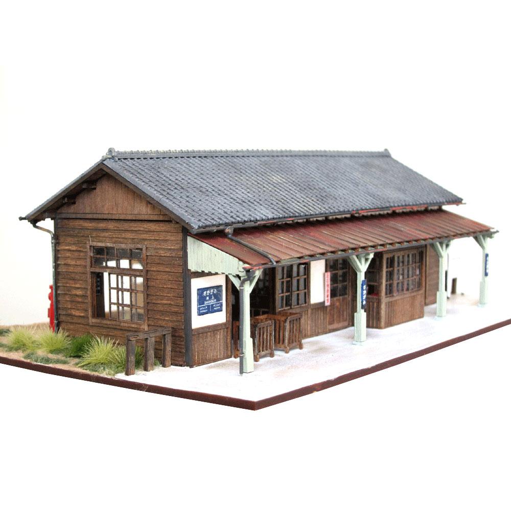 1号標準駅舎 「さかがみ」 :匠ジオラマ工芸舎 塗装済完成品 1/80