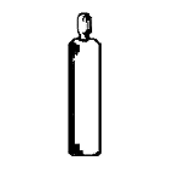 ガスボンベ 5個入り :エバーグリーンヒルデザイン 未塗装キット HO(1/87) 624