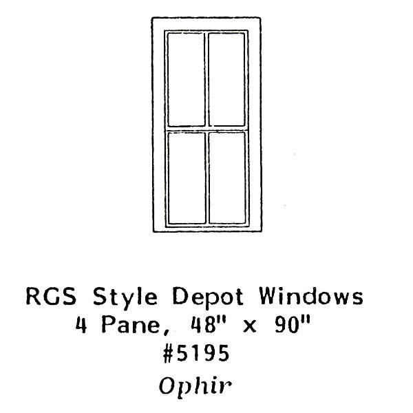 洋風窓 RGSスタイル窓枠 :グラントライン 未塗装キット(部品) HO(1/87) 5195