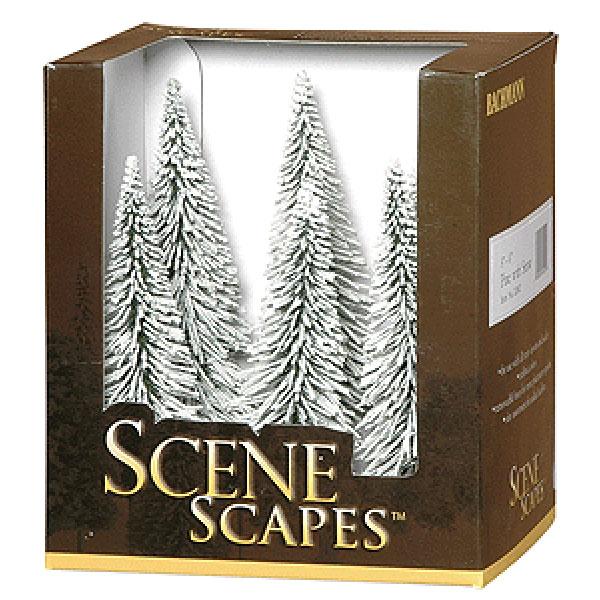 雪を被った冬の松の木(パイン) 13〜15cm 6本 :バックマン 完成品 ノンスケール 32002