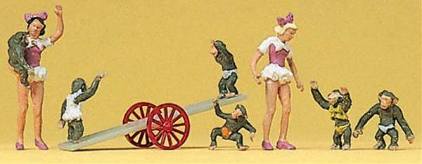 サーカスの女性と猿 :プライザー 塗装済完成品 HO(1/87) 20257