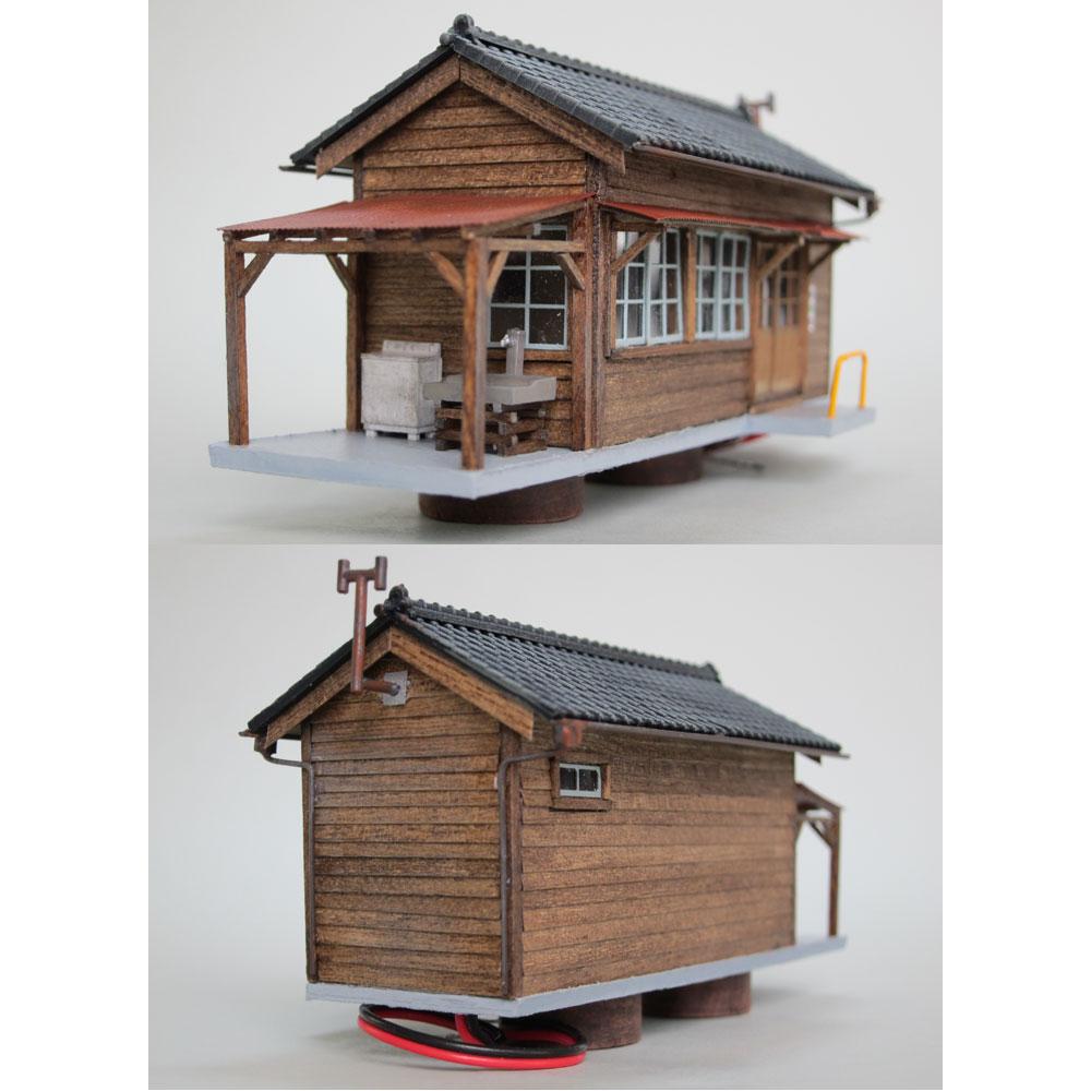 作業員詰所(瓦屋根) :匠ジオラマ工芸舎 塗装済完成品 HO(1/80) 1007