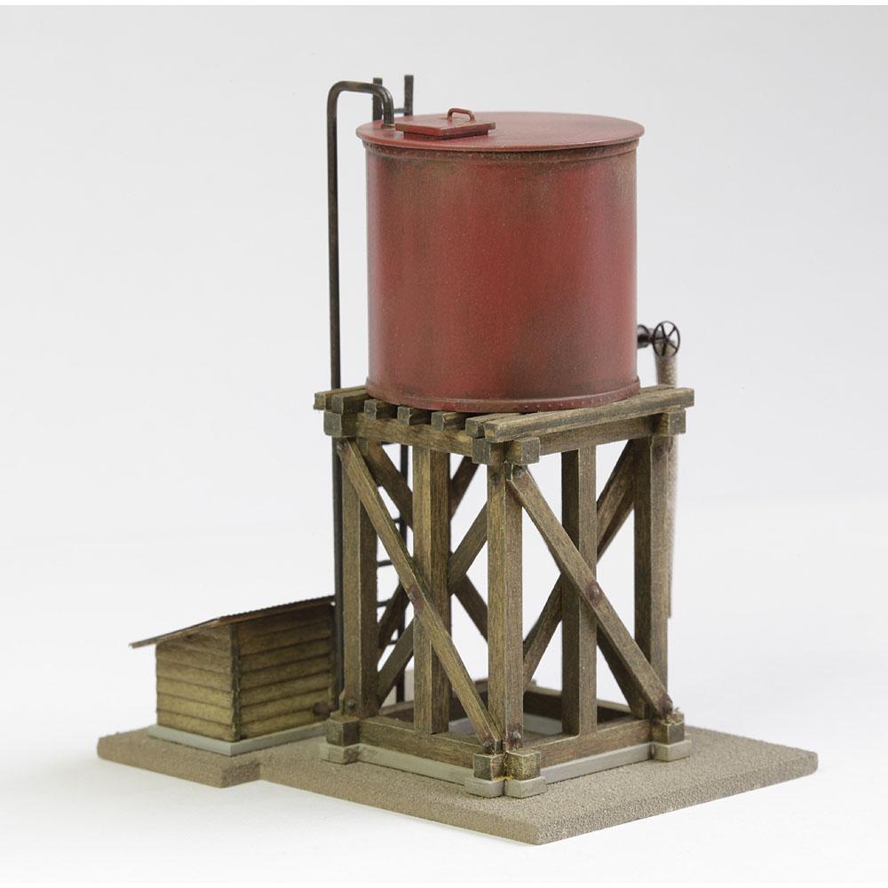円筒型鋼製タンク 中型(赤茶) :工房ナナロクニ 塗装済完成品 1/87 1030