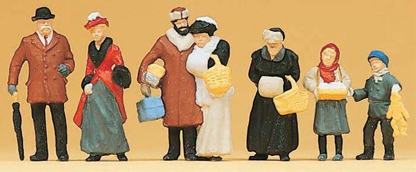 古い時代のクリスマスの人々 :プライザー 塗装済完成品 HO(1/87) 12195