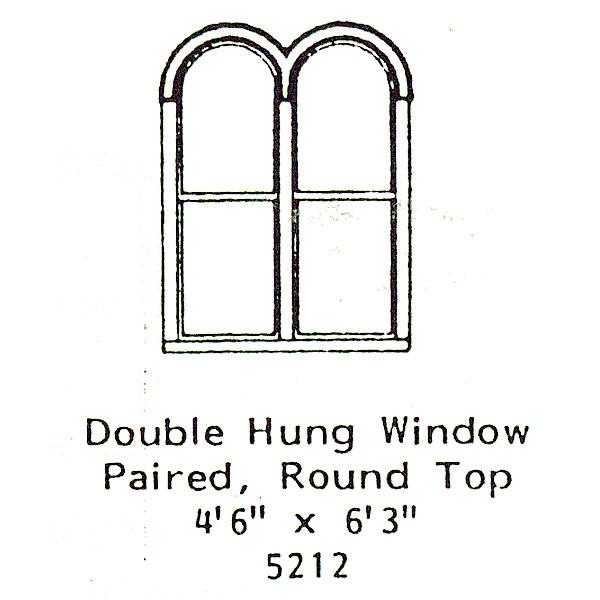 洋風窓 窓枠 ラウンドトップ:グラントライン 未塗装キット(部品) HO(1/87) 5212