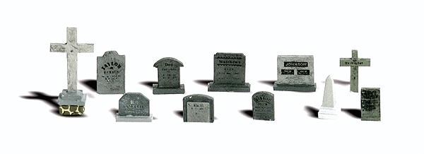 墓標、墓石 :ウッドランド 塗装済完成品 O(1/48) 2726