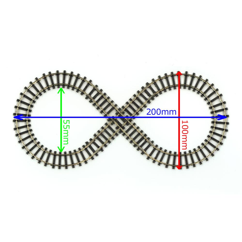 ミニミニトレイン用8の字レール :石川宜明 鉄道 線路9mmゲージ N(1/150)