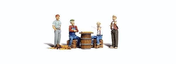 チェッカー(西洋囲碁)で遊ぶ人々 :ウッドランド 塗装済完成品 O(1/48) 2727