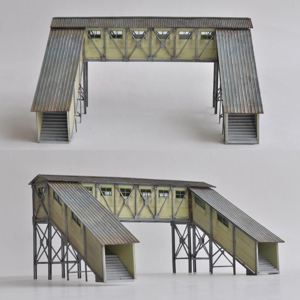 2線形 跨線橋(こせんきょう) :匠ジオラマ工芸舎 塗装済完成品 HO(1/80) 1009