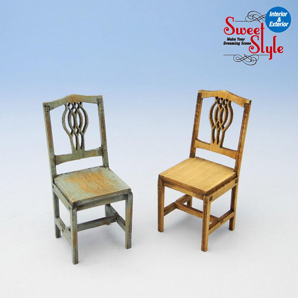 椅子セットA 2ヶ入り :コバーニ 未塗装キット 1/24 ss-002