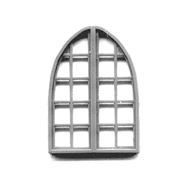 洋風窓 窓枠 アーチ型  :グラントライン 未塗装キット HO(1/87) 5256