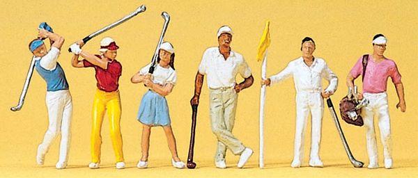 ゴルフをする人たち :プライザー 塗装済完成品 HO(1/87) 10231