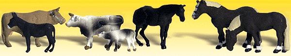 農場の動物 7頭 :ウッドランド 塗装済完成品 N(1/160) 2142
