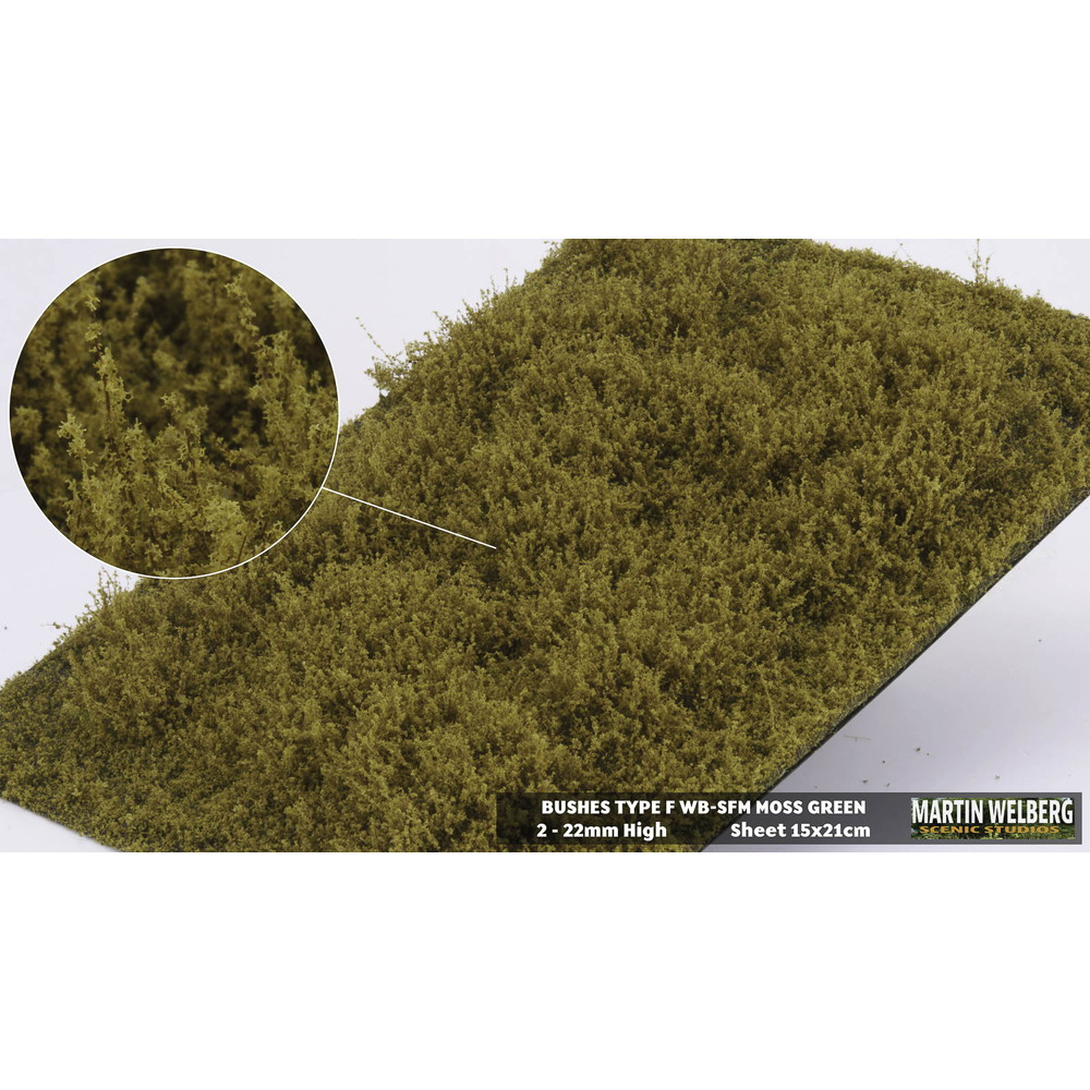 茂みF 草むらタイプ 全高15mm モスグリーン :マルティン・ウエルベルク ノンスケール WB-SFM