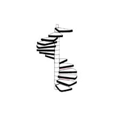 【模型】 らせん階段 :プラストラクト 未塗装キット 1/100 STAS-102(90961)