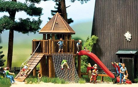 遊具のお城 :ブッシュ キット HO(1/87) 1487