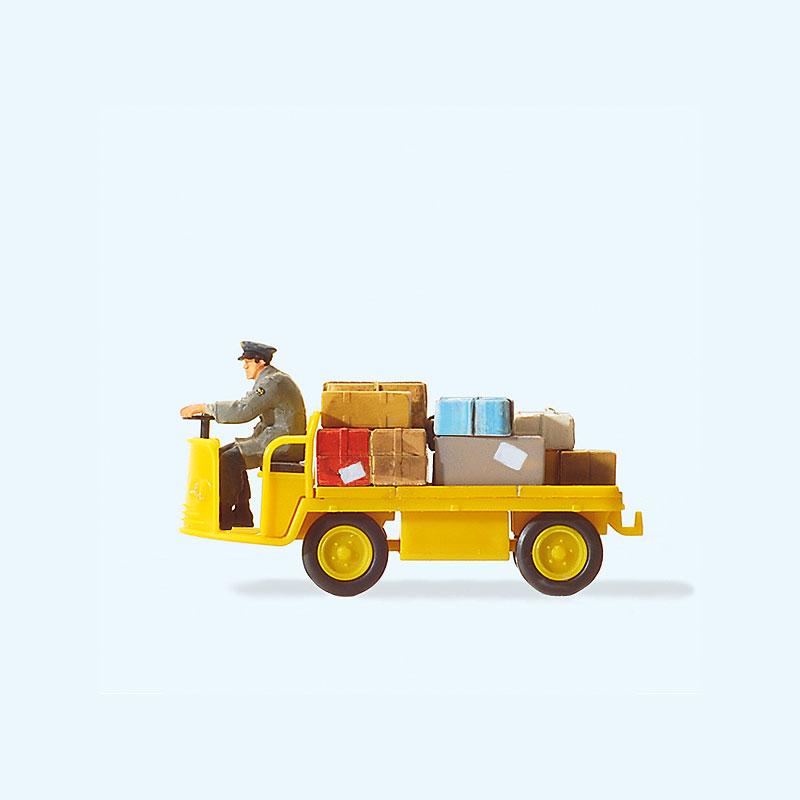 エポック時代の電動貨物車(郵便局仕様) :プライザー 塗装済完成品 HO(1/87) 28146
