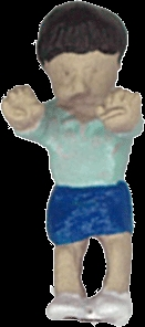 さかつう人形シリーズまなべコレクション ケン坊 :さかつう 塗装済完成品 HO(1/87) 7504