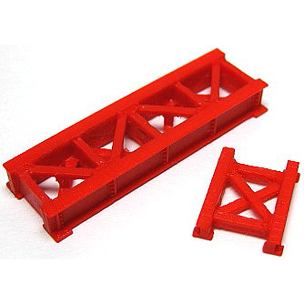 小鉄橋(赤) :YSK 未塗装キット N(1/150) 品番275