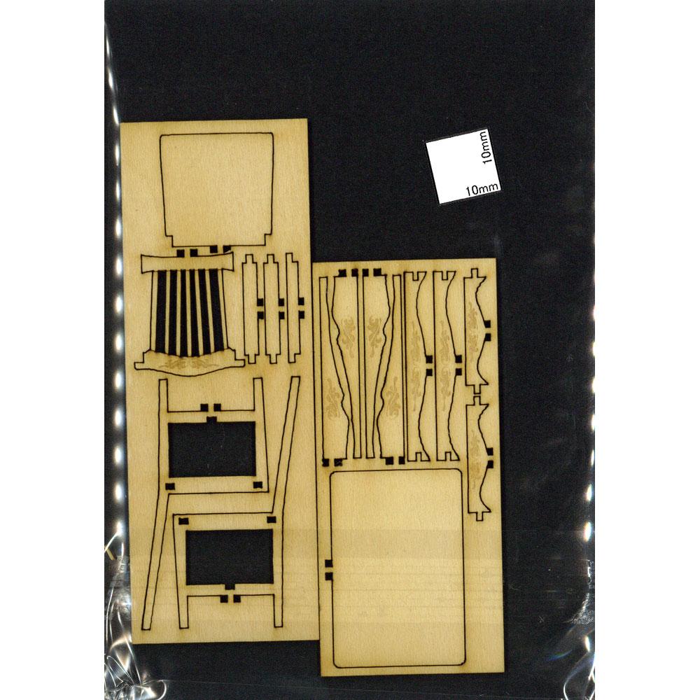 アンティークな机と椅子セット :コバーニ 未塗装キット 1/24 ss-004