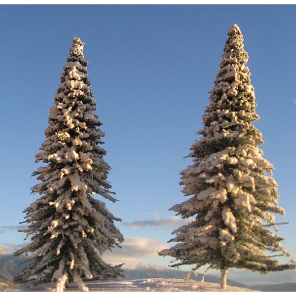 雪を被った冬の松の木(パイン) 5〜16cm 16本入り :グランドセントラル 完成品 ノンスケール T13