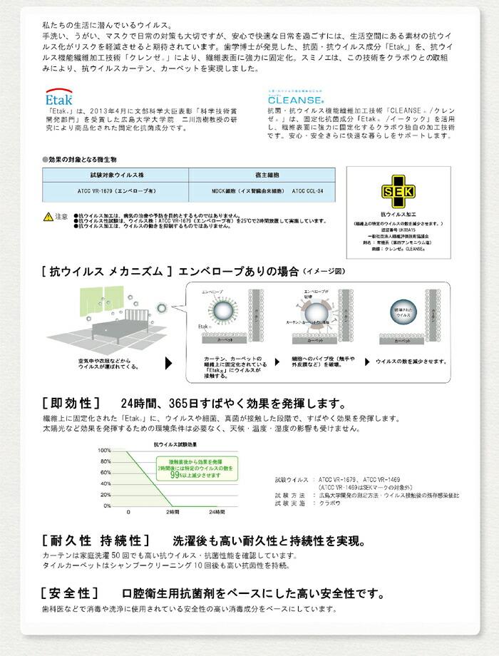 タイプフォー 抗菌軽量ラグ 110cm×130cm