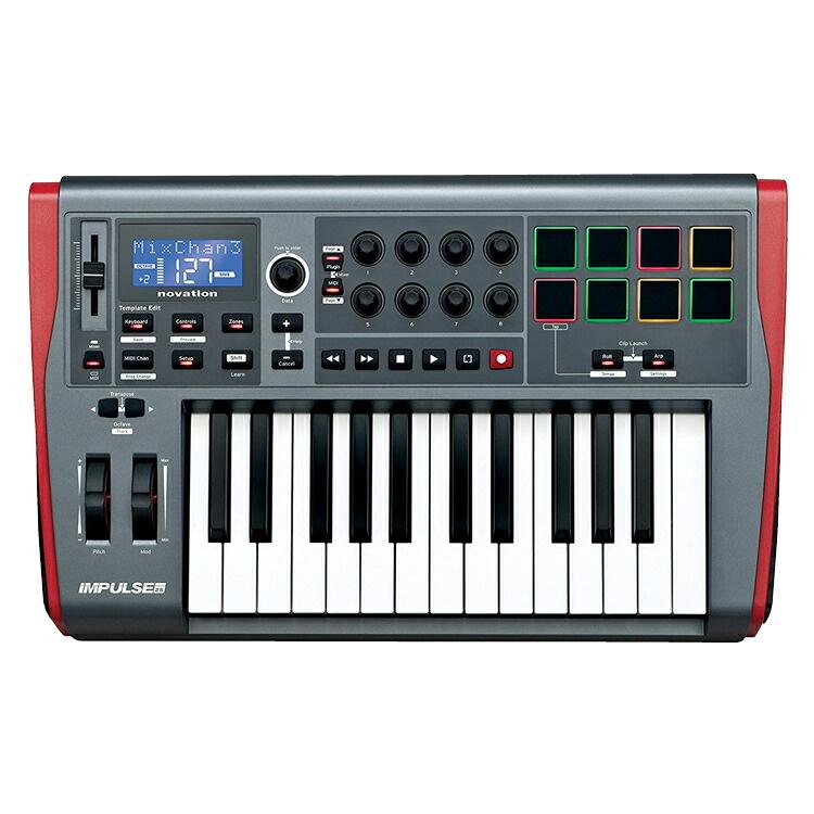 NOVATION MIDIキーボード / コントローラ 25鍵盤 Impulse 25【Ableton Live Lite付属】【ノベーション MIDI鍵盤 インパルス】*