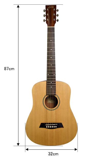 S.Yairi 左利き用 コンパクトアコースティックギター YM-02LH 安心入門セット  【今だけ弦3セット付き!【ヤイリ  子供用 YM02 ミニギター】
