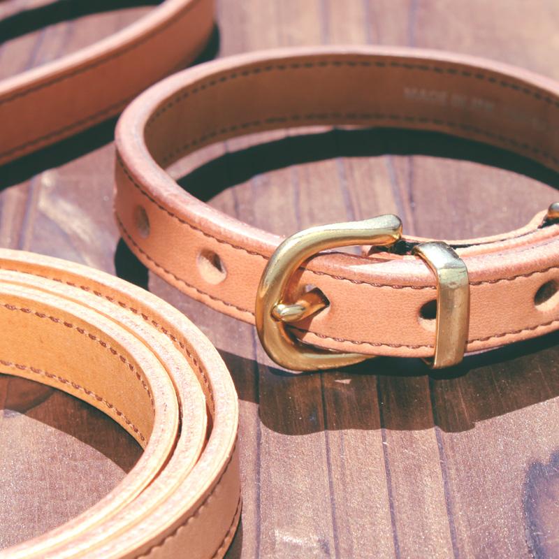 [#ST4001]サクラ犬具製作所 「輝きつづける本革首輪」 100%ピュアニーフットオイル仕上げ