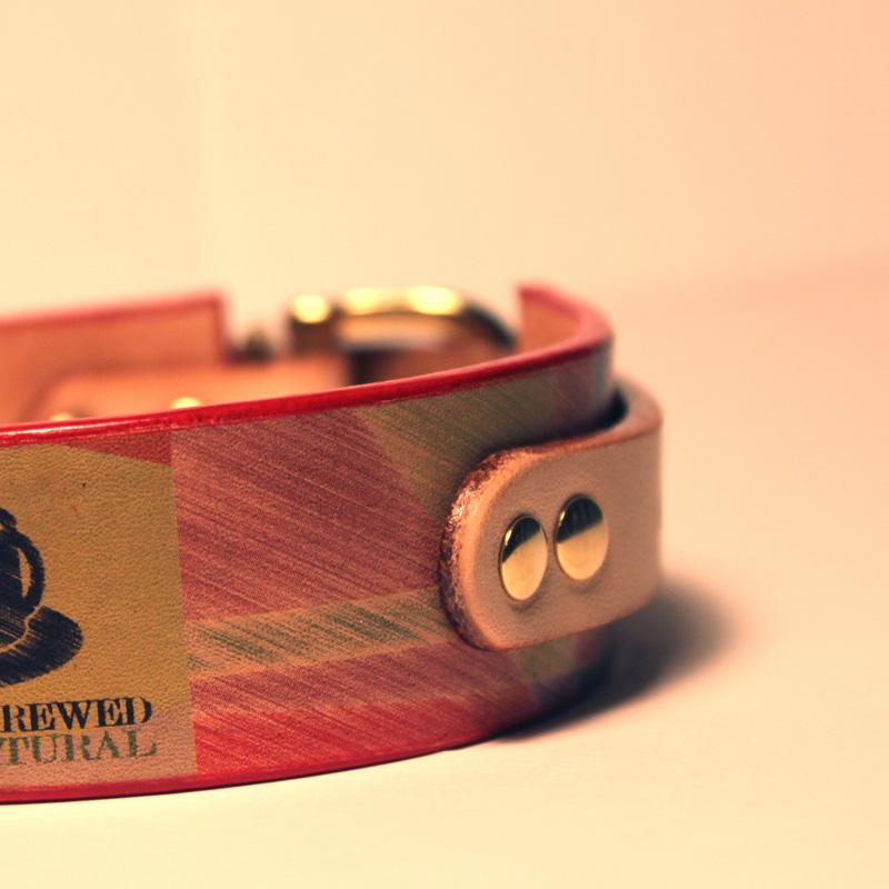 Framer WIDE グラフィック手仕上げ 本革首輪 真鍮無垢金具 サイズSS〜LL ベルト幅30mm/40mm #33037