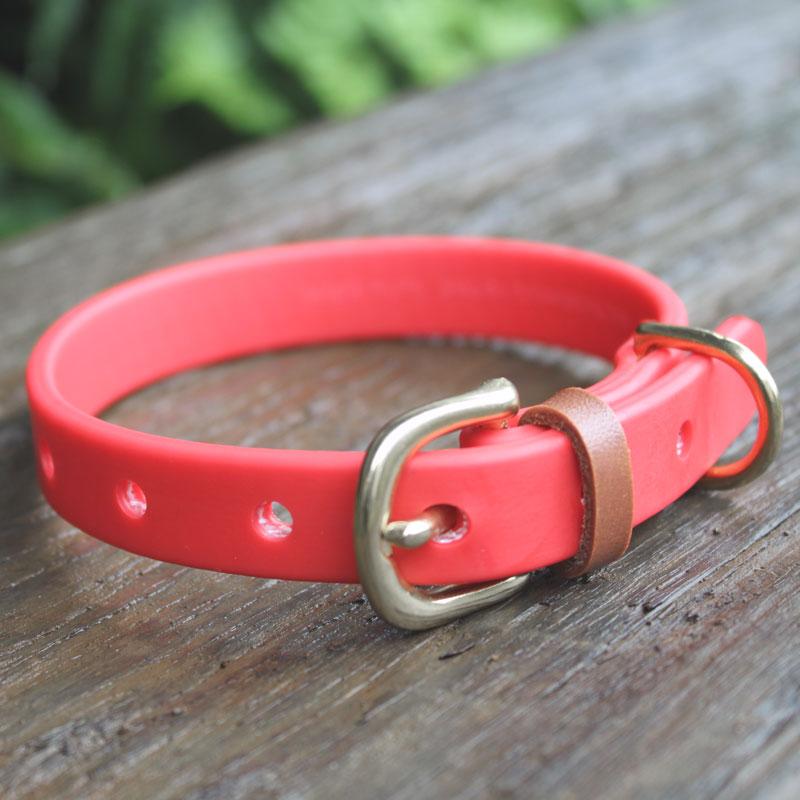 全6色[小型犬用16mm幅]アウトドア首輪 防水性・柔軟性・耐久性に優れたハイテク素材の犬用首輪 長さもセミオーダーOK